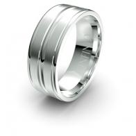 Salinger Triple Channel Debonair Infinity Mens Ring
