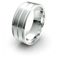 Atticus Triple Channel Debonair Infinity Mens Ring