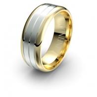 Rochester Triple Channel Debonair Infinity Mens Ring