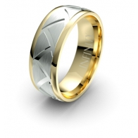 Mako Triangle Etched Elements Infinity Mens Ring