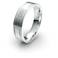 Constantine Brushed Finish Etched Elements Infinity Mens Ring