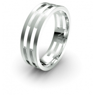 Dion Polished Accent Elements Infinity Mens Ring