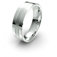 Markus Contrasting Finish Debonair Infinity Mens Ring