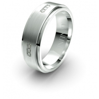 Xander Brushed Finish Lustre Infinity Mens Diamond Ring