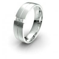 Briar Tension Set Diamond Lustre Infinity Mens Ring