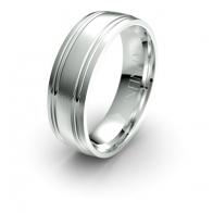 Miccah Double Etched Debonair Infinity Mens Ring