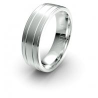 Aaron Double Bar Debonair Infinity Mens Ring