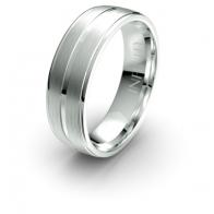 Hawke Double Brushed Finish Debonair Infinity Mens Ring