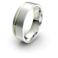 Sebastian Asymmetric Channel Debonair Infinity Mens Ring