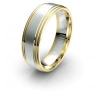 Elijah Brushed Finish Debonair Infinity Mens Ring
