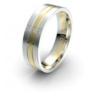 Theo Triple Band Lustre Infinity Mens Diamond Ring
