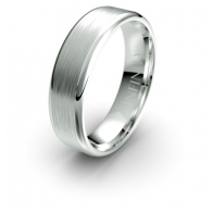 Romeo Brushed Finished Debonair Infinity Mens Ring