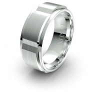 Giacomo Raised Brick Detail Elements Infinity Mens Ring
