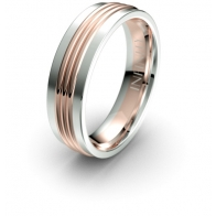 Ajax Triple Band Debonair Infinity Mens Ring