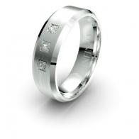 November Three Stone Lustre Infinity Mens Diamond Ring