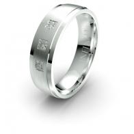 Foxtrot Three Stone Banded Lustre Infinity Mens Diamond Ring