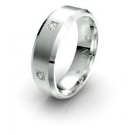 Seamus Punch Set Brush Finish Lustre Infinity Mens Diamond Ring