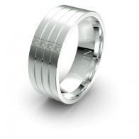 Ohana Quatro Banded Lustre Infinity Mens Diamond Ring