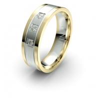 Valerian Three Stone Lustre Infinity Mens Diamond Ring