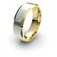 Nelson Contrast Inset Diamond Lustre Infinity Mens Ring
