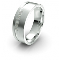 Lorenz Assymetrical Lustre Infinity Mens Diamond Ring