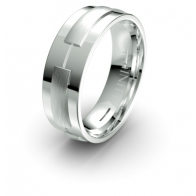 Matteo Raised Detail Elements Infinity Mens Ring