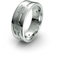 Tann Chain Detail Lustre Infinity Mens Diamond Ring