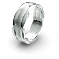 Antone Plaited Detail Elements Infinity Mens Ring