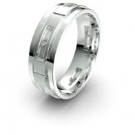 Carter Baguette Diamond Set Lustre Infinity Mens Ring