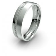 Enrique Channel Set Diamond Bar Lustre Infinity Mens Ring