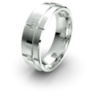 Armistice Raised Band Lustre Infinity Mens Diamond Ring