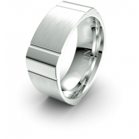 Christian Square Edged Elements Infinity Mens Ring