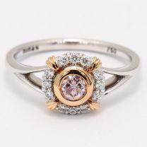 Nemo Argyle Pink Diamond Halo Ring