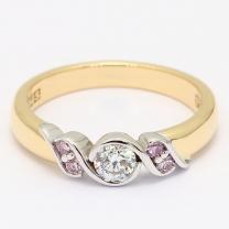 Magnolia Argyle Pink and White Diamond Engagement Ring