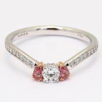 Nicki pink and white diamond ring