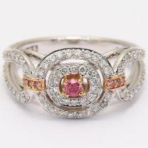 Babylon Argyle pink and white diamond ring