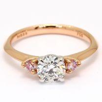 Serita Argyle pink and white diamond engagement ring