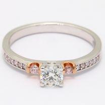 Trillium Argyle Pink Diamond Engagement Ring