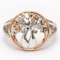 Tree Of Life Argyle Pink Diamond Boab Ring