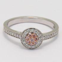 Angelique Argyle Pink Diamond Halo Ring