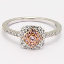Mia Argyle Pink Diamond Halo Ring