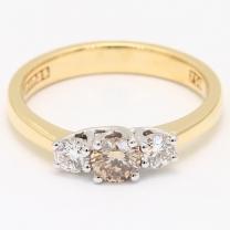 Xander Argyle Champagne and White Diamond Ring