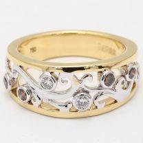 Esplanade Champagne Diamond Dress Ring