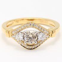 Harper Argyle Champagne and White Diamond Dress Ring