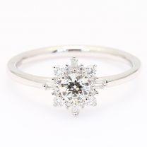 Glory white diamond halo engagement ring