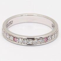Balance Argyle Pink and White Diamond Wedding Ring