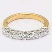 Razzle 7 Stone White Diamond Ring