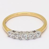 Adorned 5 Stone White Diamond Ring