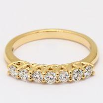 Symphony 7 Stone White Diamond Ring