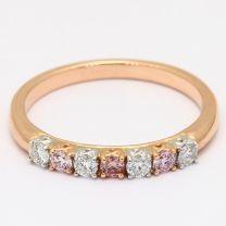 Rosanne 7 Stone White And Argyle Pink Diamond Ring
